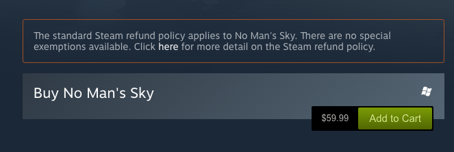 NMS Steam Refund