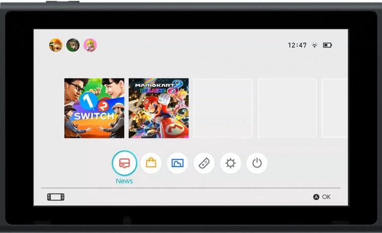 Nintendo Switch UI Revealed