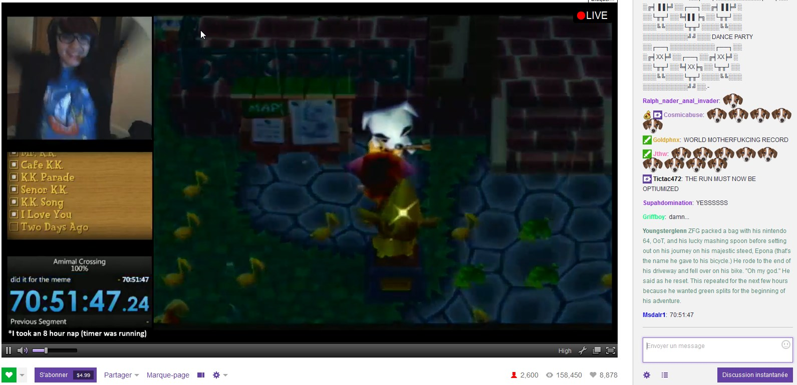 Twitch Streamer Gets 100% in Animal Crossing in Under 24 Hours