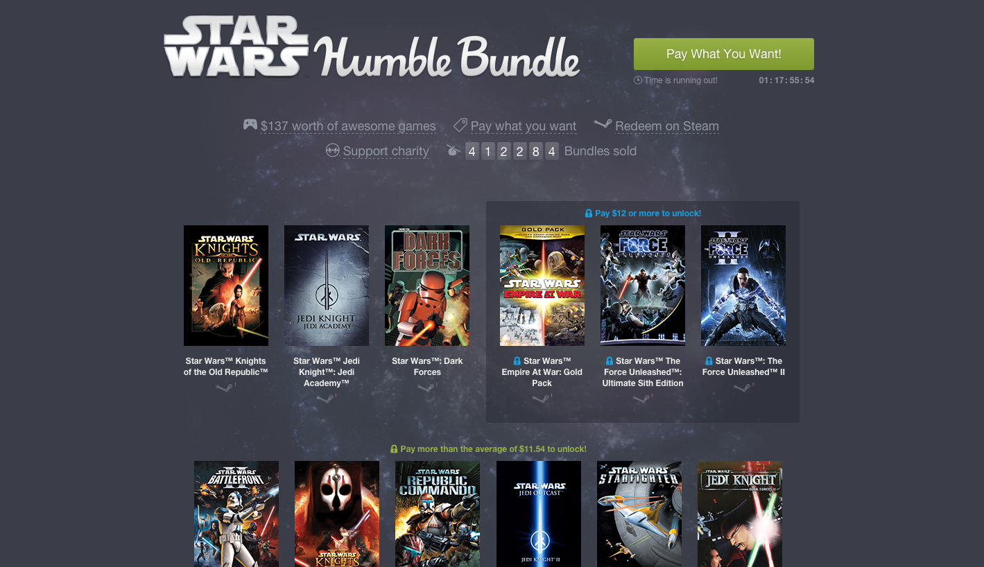 Time is Running Out to Grab the Star Wars Humble Bundle