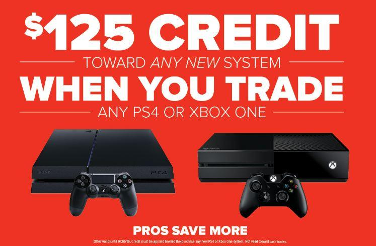 Gamestop system trade in prices