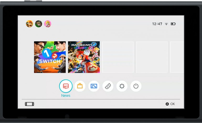 Nintendo Switch UI Revealed