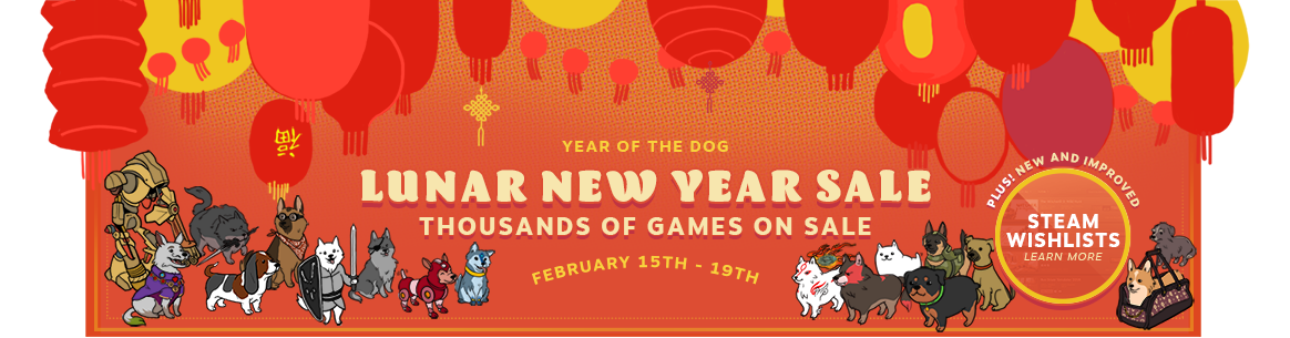 Lunar New Year Steam Sale Brings Killer Deals and Steam Wishlist Changes